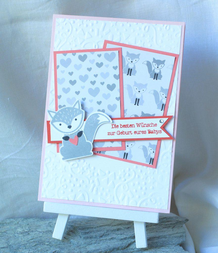 Babykarte Ausgefuchst Foxy Friends Zum Nachwuchs kreative Naschkatze - 2