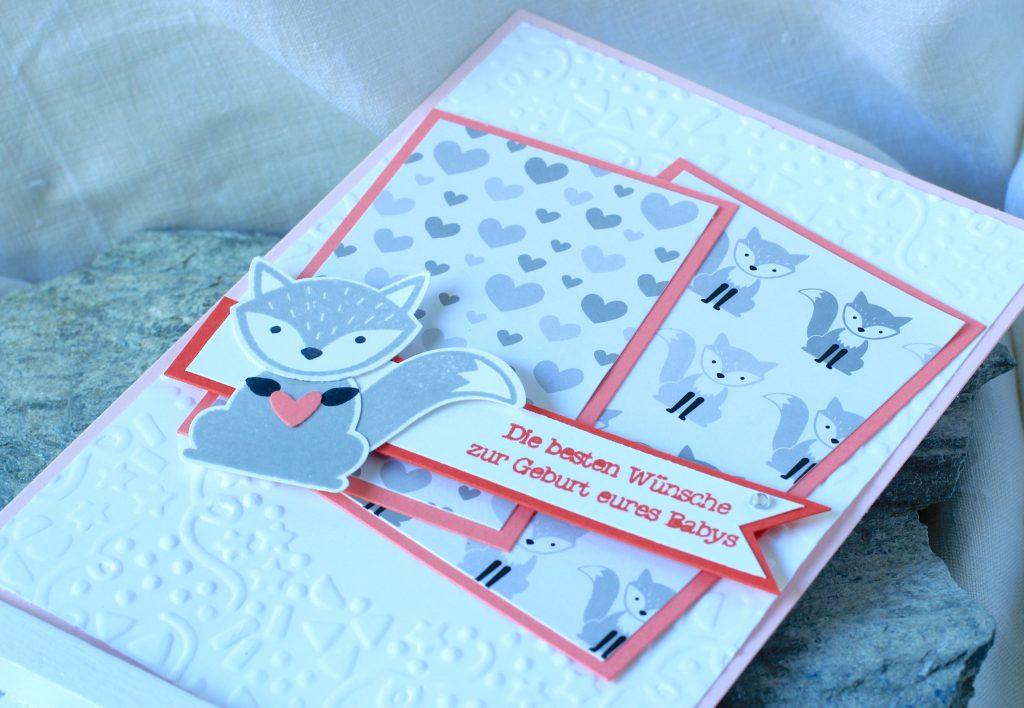 Babykarte Ausgefuchst Foxy Friends Zum Nachwuchs kreative Naschkatze - 5