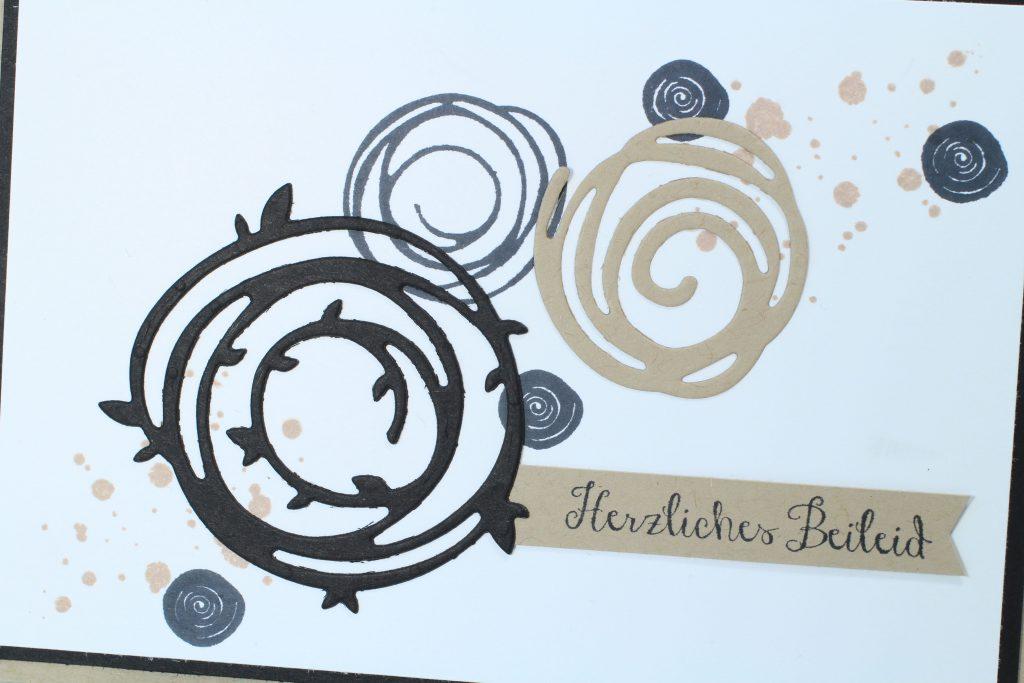 Trauerkarte Wunderbar verwickelt Swirly Bird stampin up - 1