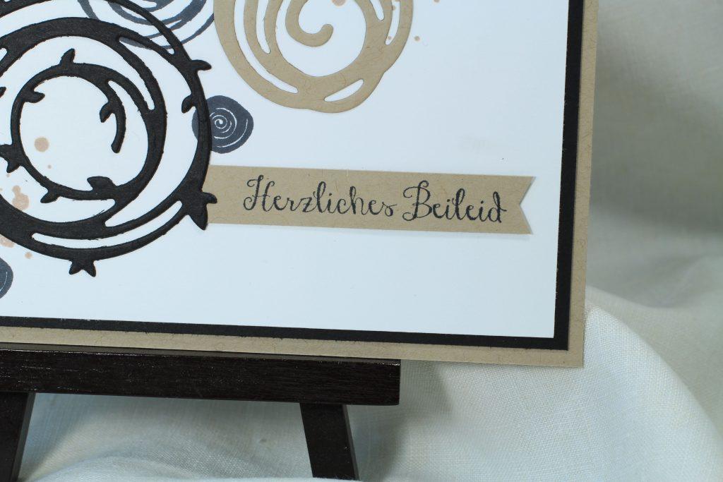 Trauerkarte Wunderbar verwickelt Swirly Bird stampin up - 2