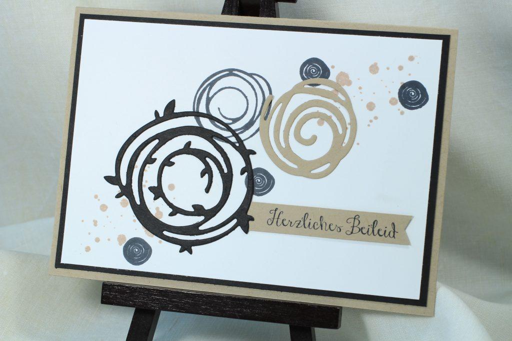 Trauerkarte Wunderbar verwickelt Swirly Bird stampin up - 3