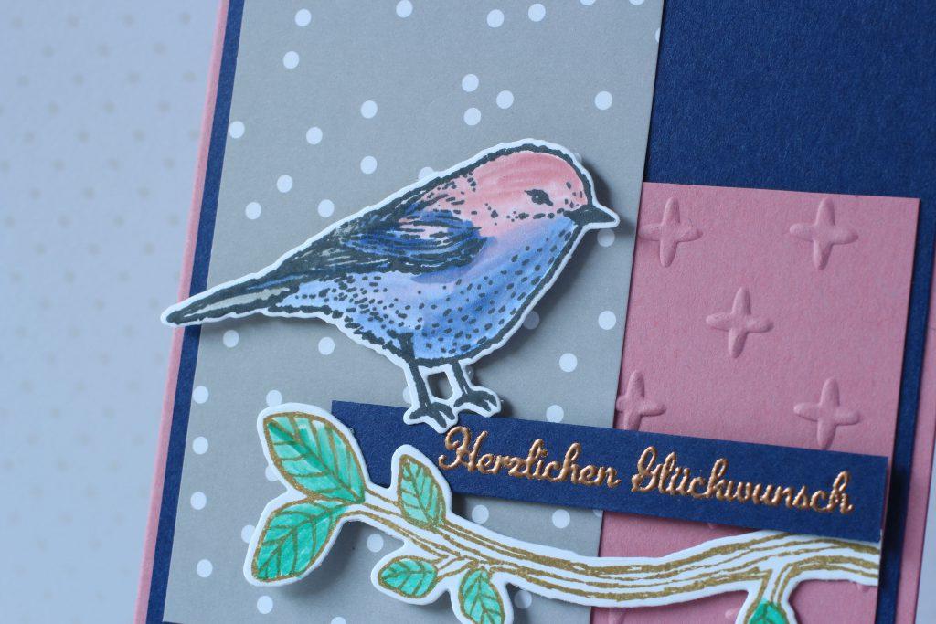 Vogelhochzeit Zarte Pflaume Geburtstag Funkelsterne Ausgefuchst - 3