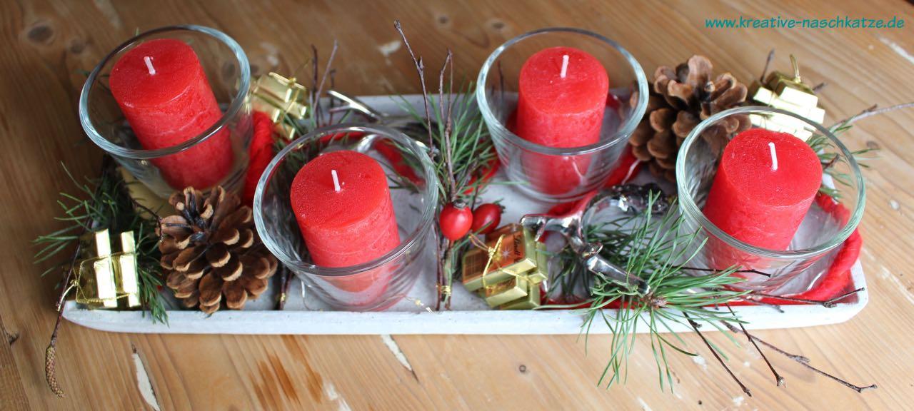 adventstablett advent adventskranz kerzen lindt 4. Black Bedroom Furniture Sets. Home Design Ideas