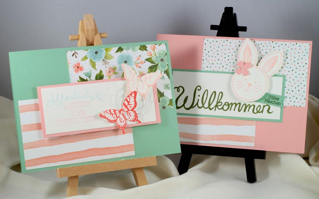 Friends & Flowers, Herzlich Willkommen, Geburtstagsblumen, Papillon Potpourri, Stampin' Up! - 1