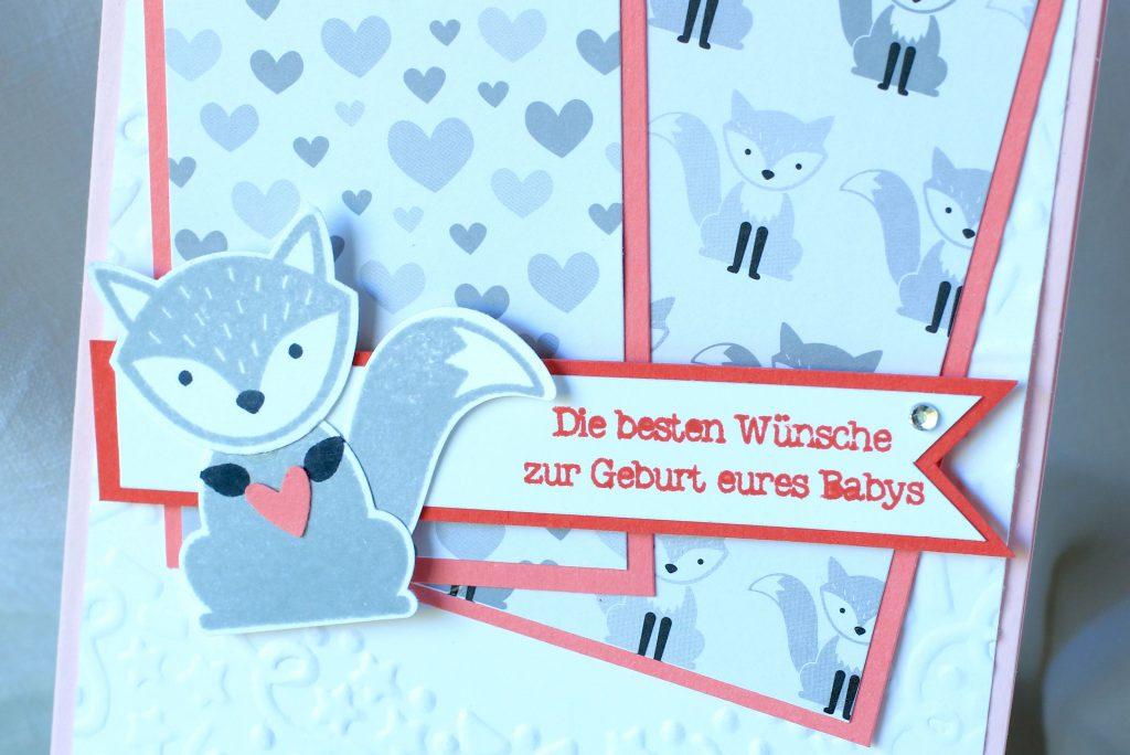 Babykarte Ausgefuchst Foxy Friends Zum Nachwuchs kreative Naschkatze - 3