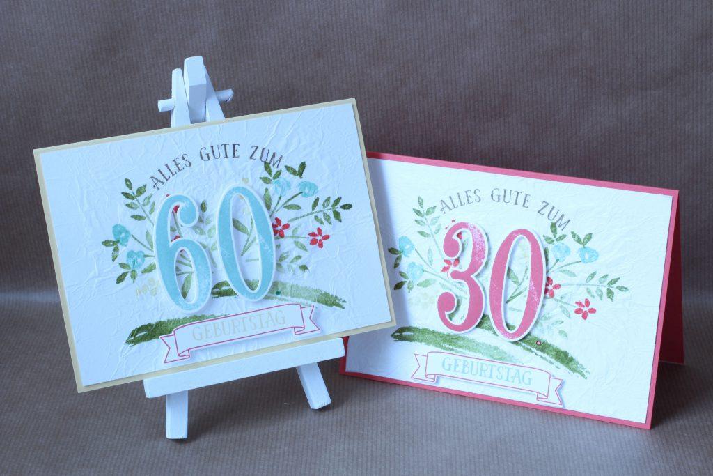 Geburtstag So viele Jahre Faux Silk Technik - 1