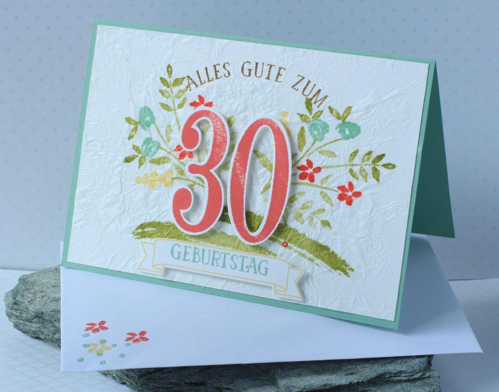 Geburtstag So viele Jahre Faux Silk Technik - 5
