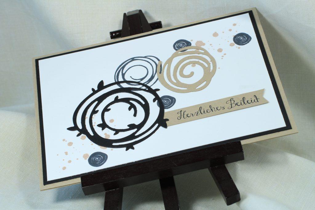 Trauerkarte Wunderbar verwickelt Swirly Bird stampin up - 4
