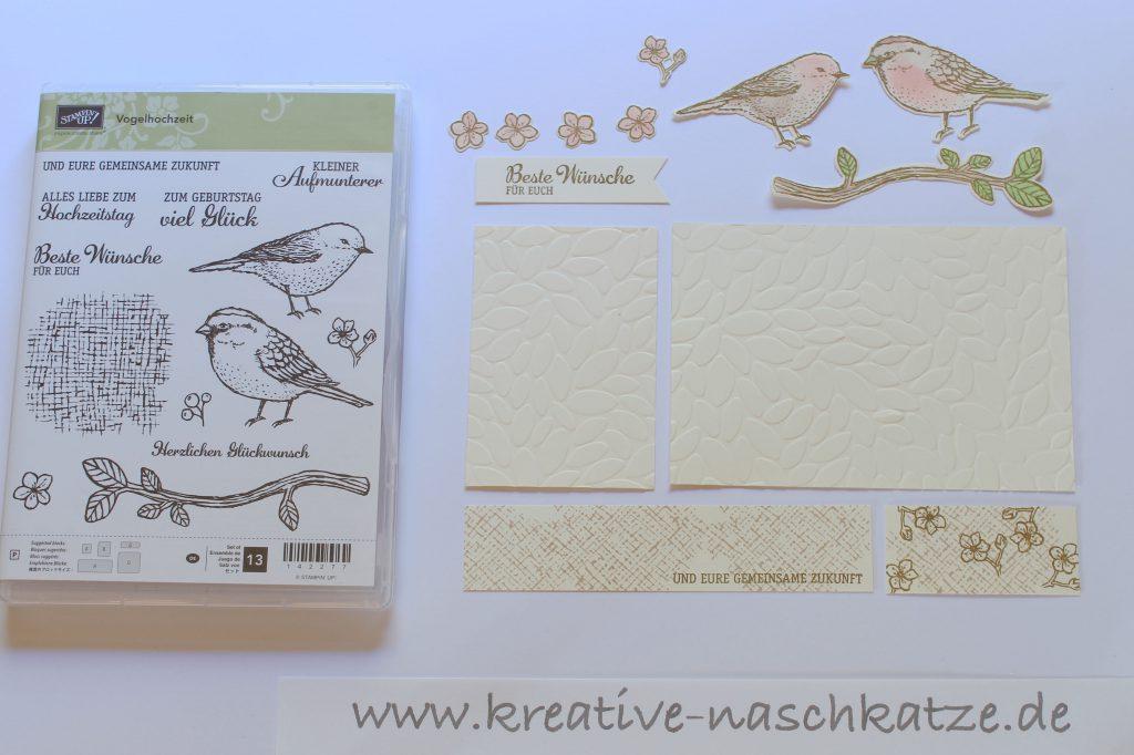 Anleitung Z-Fold-Card Vogelhochzeit Blättermeer - 3